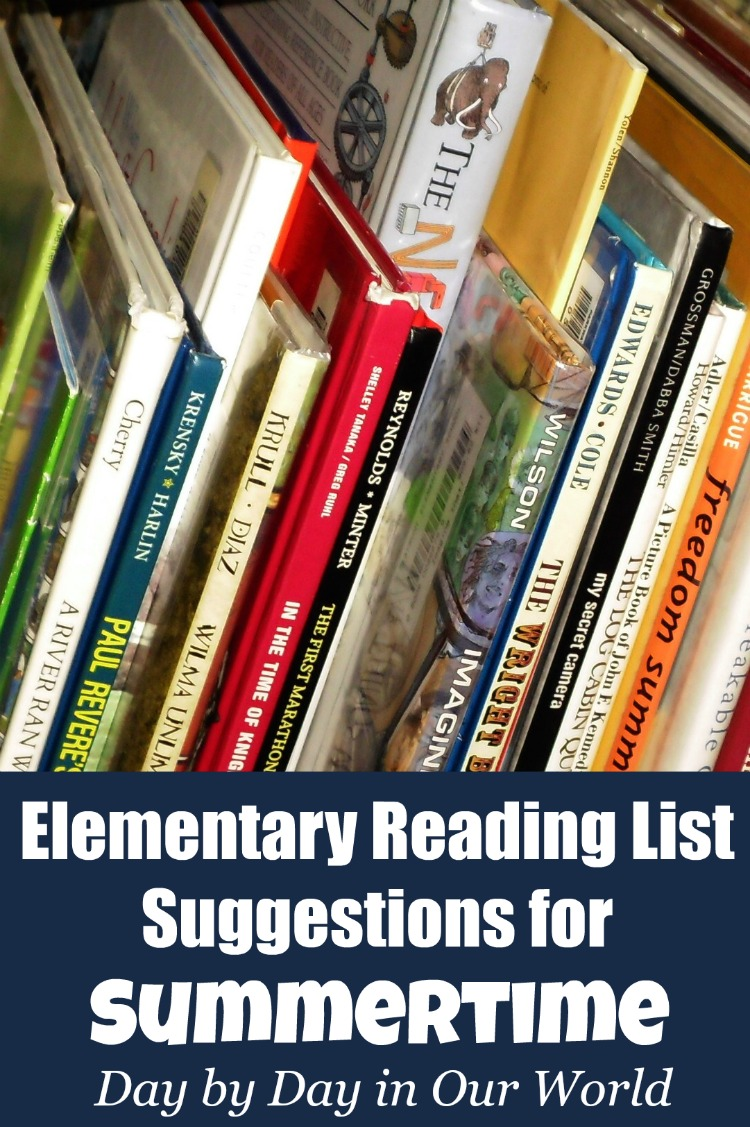 Suggestions for Summertime Reading for Elementary Grades