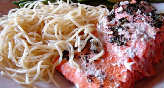 Baked Salmon Plated for Dinner