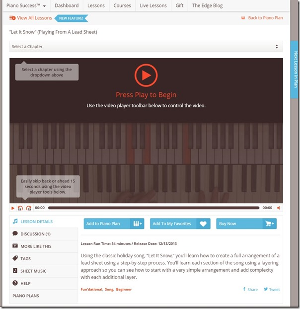 Let It Snow   Playing From A Lead Sheet Lesson Screenshot   PianoWithWillie