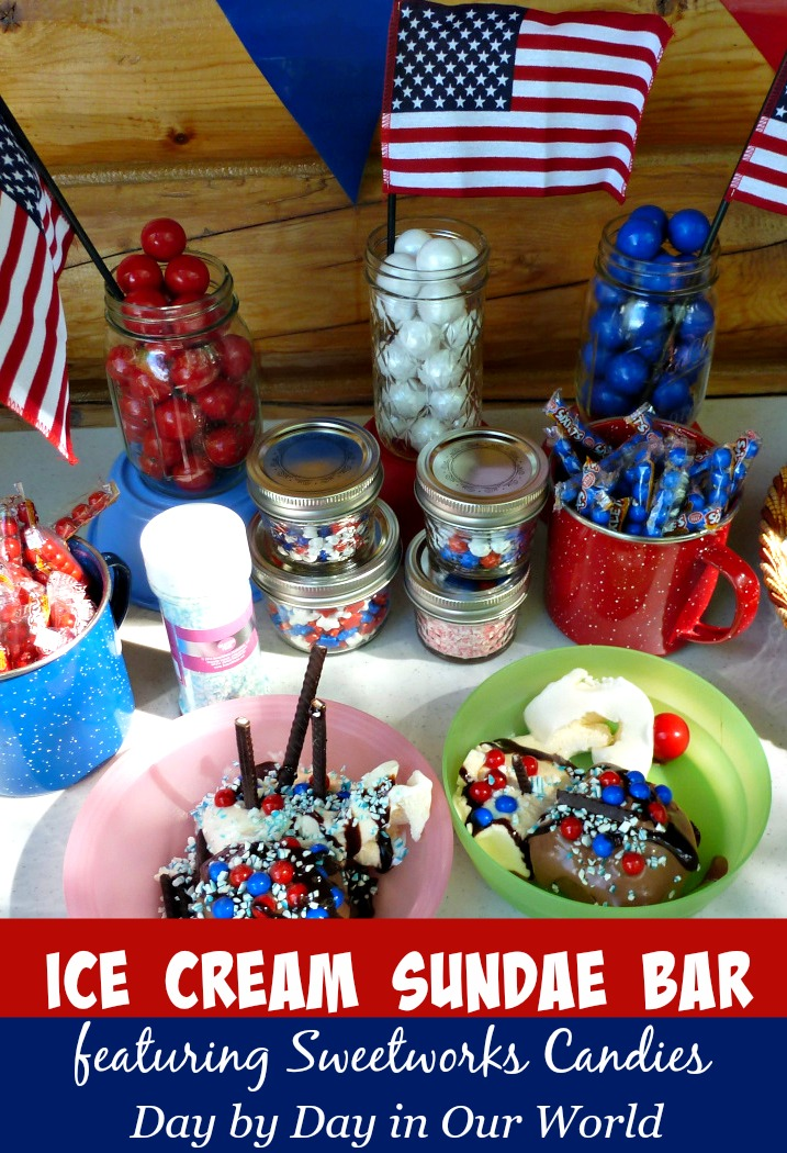Quickly Create an Ice Cream Sundae Bar Featuring Sweetworks Candies this Summer