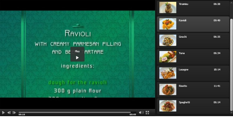 SmartKidz Media Library Cooking Collection Screenshot