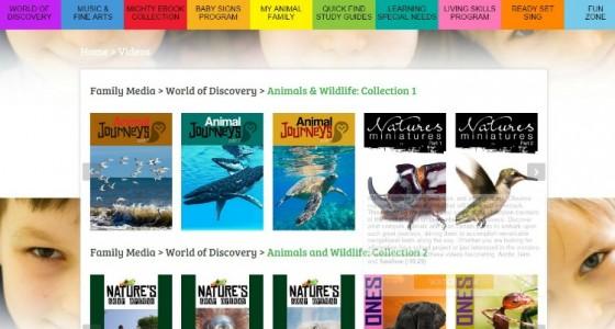 SmartKidz Media Library Dashboard Page