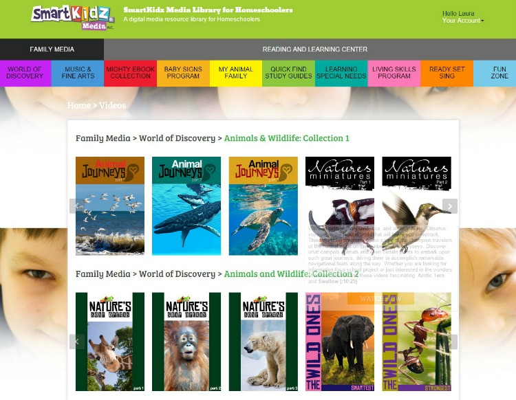 SmartKidz Media Library Dashboard Page