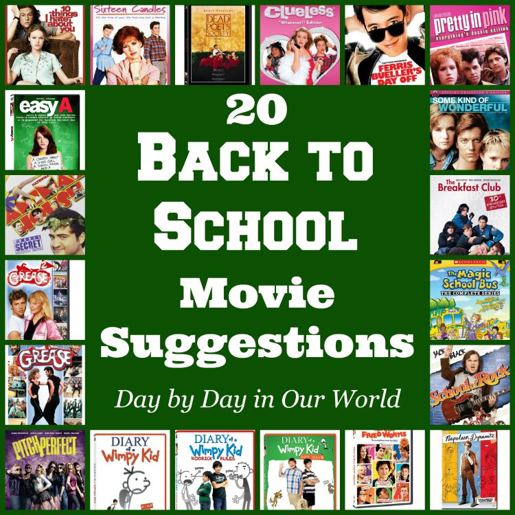 20 Back to School Movie Suggestions for all different stages of education