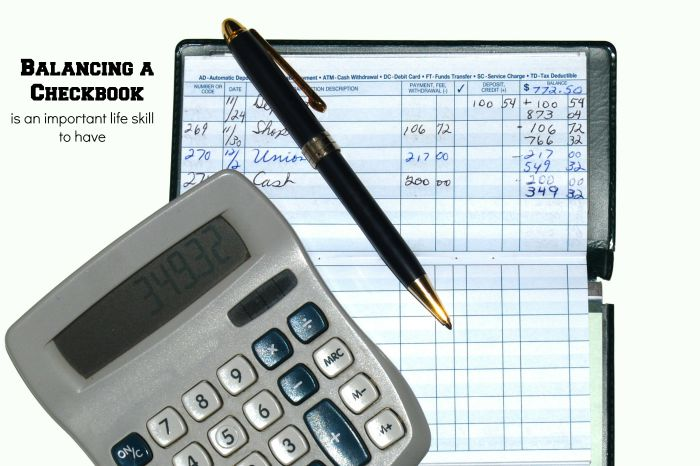 Balancing a Checkbook is an Important Lifeskill to have