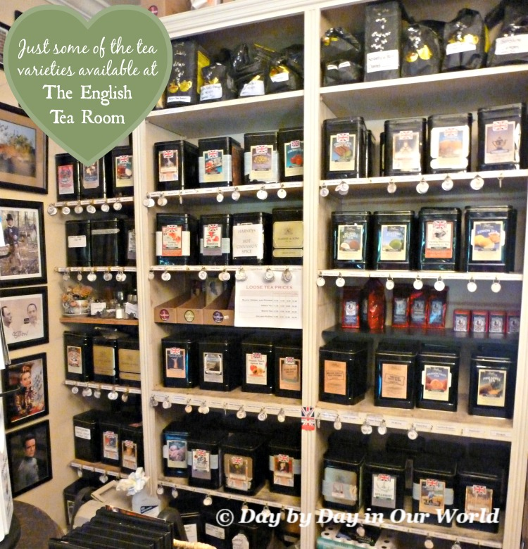 Looking at just some of the tea varieties available at The English Tea Room in Covington Louisiana