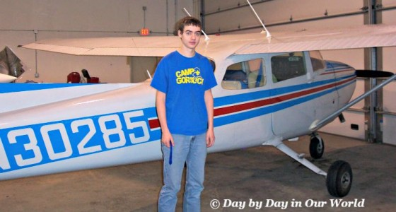 P by the plane he flew at GILA aviation program
