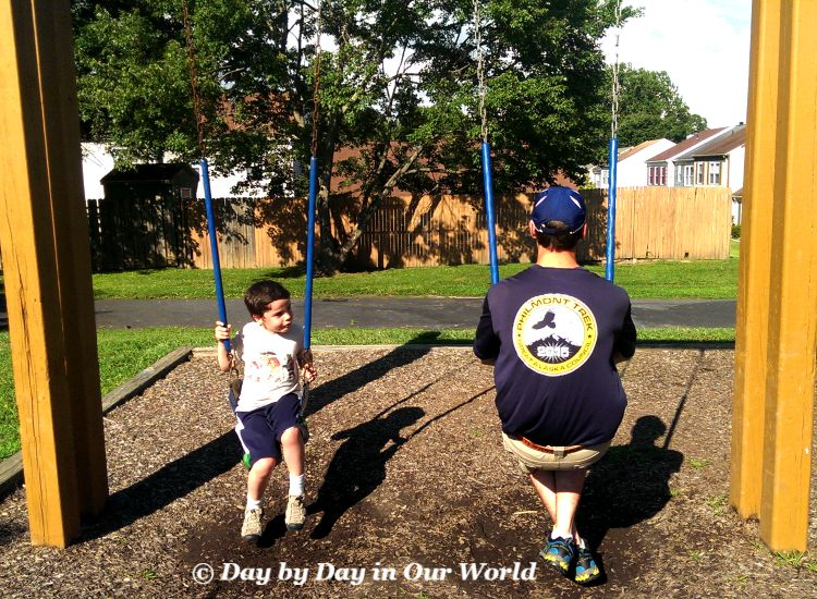 Seeing the Future for My Youngest as He swings next to the eldest son #iamprotective #CollectiveBias