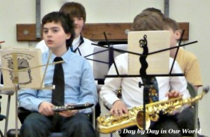 Final concert for sixth grade band in spring 2015