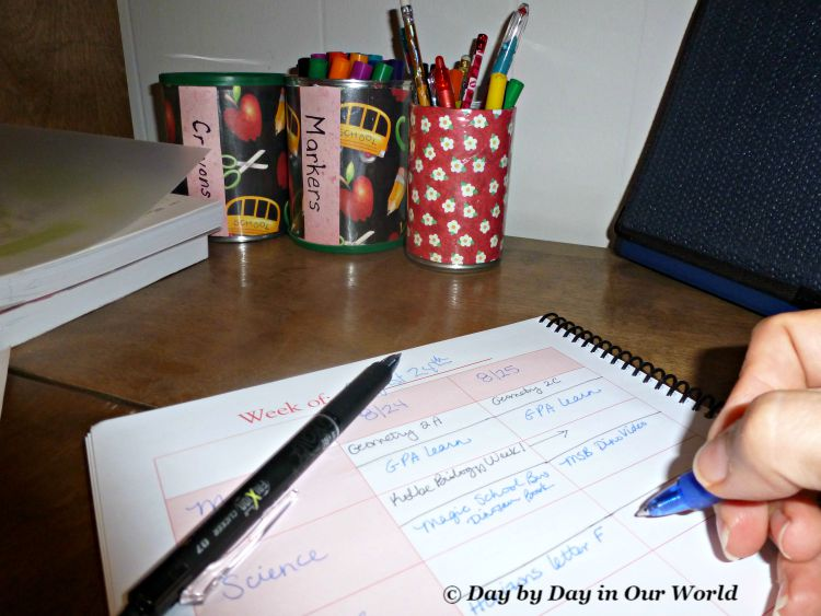 FriXion Erasable Pens Make Changing Assignments in My School Planner Easy