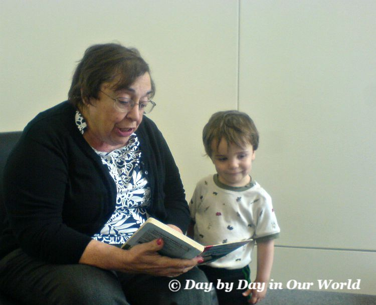 Being read to by a grandparent help with prereading skills and is fun