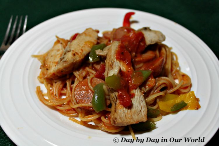 Cajun Pasta is easy to make and packs in the protein