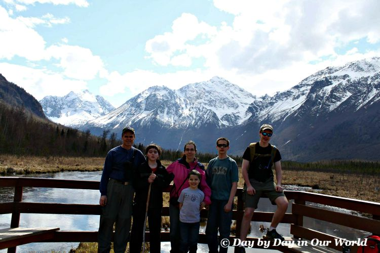 Family Photo at Eagle River Nature Center example of losing people to the background