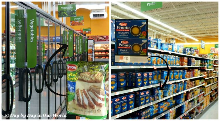 Finding Tyson Grilled and Ready Chicken Strips and Barilla Pasta Pronto Was Easy to Do in my local Walmart