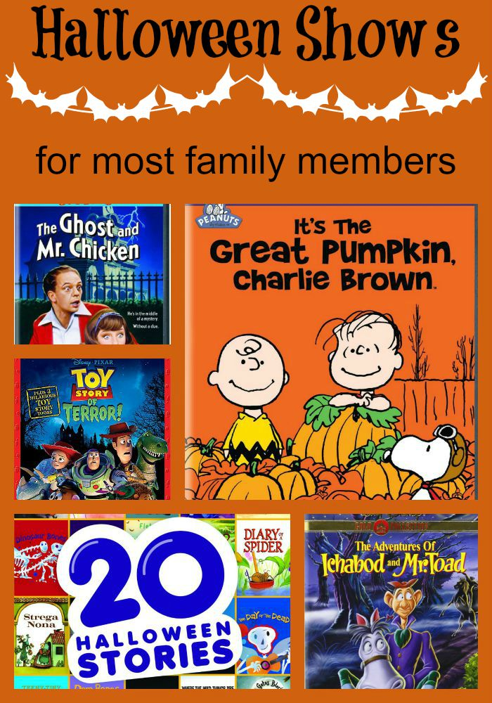 Halloween Shows for kids of just about every age in your family