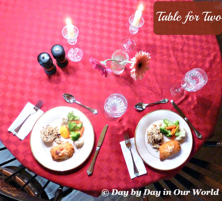 Pull out your best dishes to set a table for two and enjoy a special date night at home