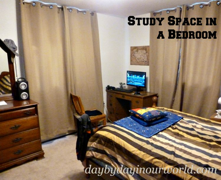 Study Space in a Bedroom