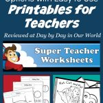 Easy to Use Printables for Teachers for Learning