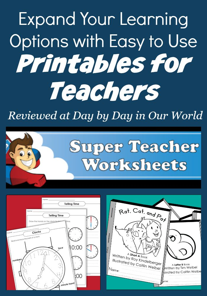 Easy to Use Printables for Teachers for Learning | Day By ...