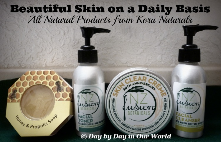 Beautiful Skin on a Daily Basis with all natural products from Koru Naturals