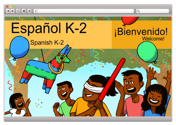 Spanish Welcome Screen for Grades K to 2