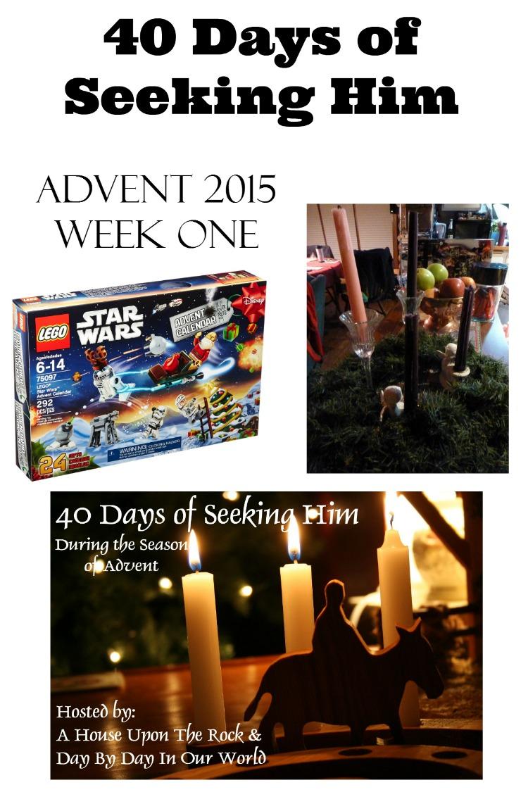 40 Days of Seeking Him Advent 2015 Week One