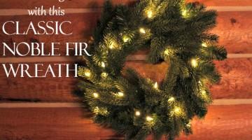 A Realistic Artificial Classic Noble Fir Wreath