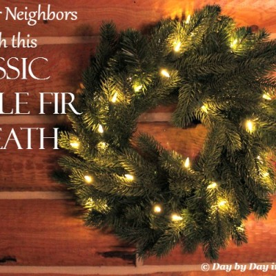 A Realistic Artificial Classic Noble Fir Wreath