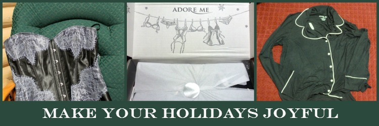 Order some new lingerie or sleepwear from Adore Me to help make your holidays joyful