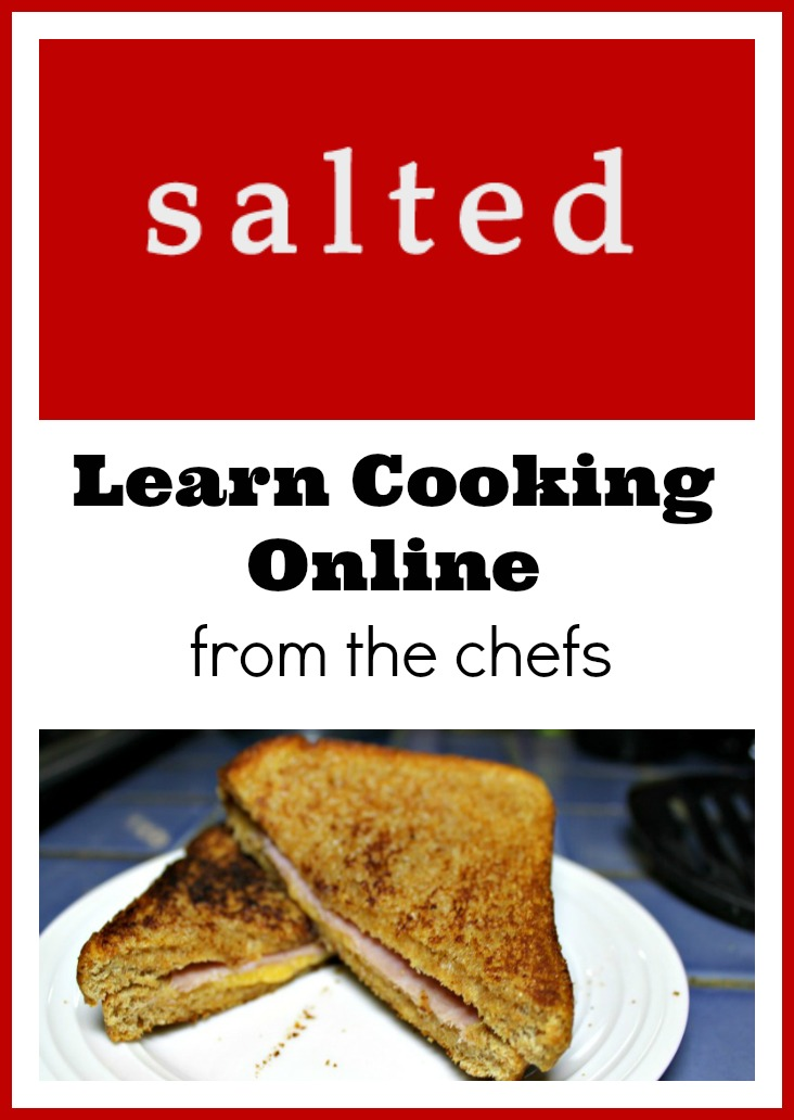 Salted is an online cooking program which has a variety of chefs teaching you skills starting with the basics at your own pace all from the comfort of your home