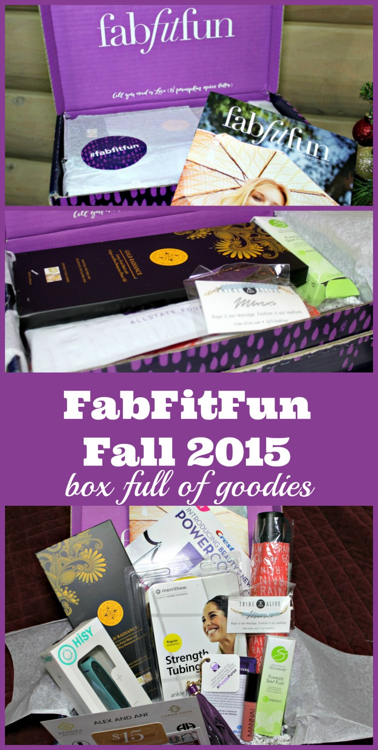 Take a Look inside the FabFitFun Fall 2015 Subscription Box