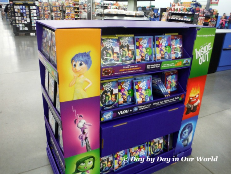 We found plenty of options for Inside Out in this display near the checkout lanes at Walmart
