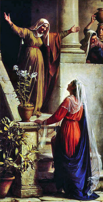 The Visitation where Mary Sings The Magnificat
