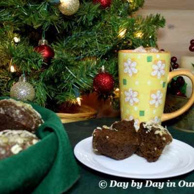 Enjoy Streusel Topped Gingerbread Muffins for the Holidays