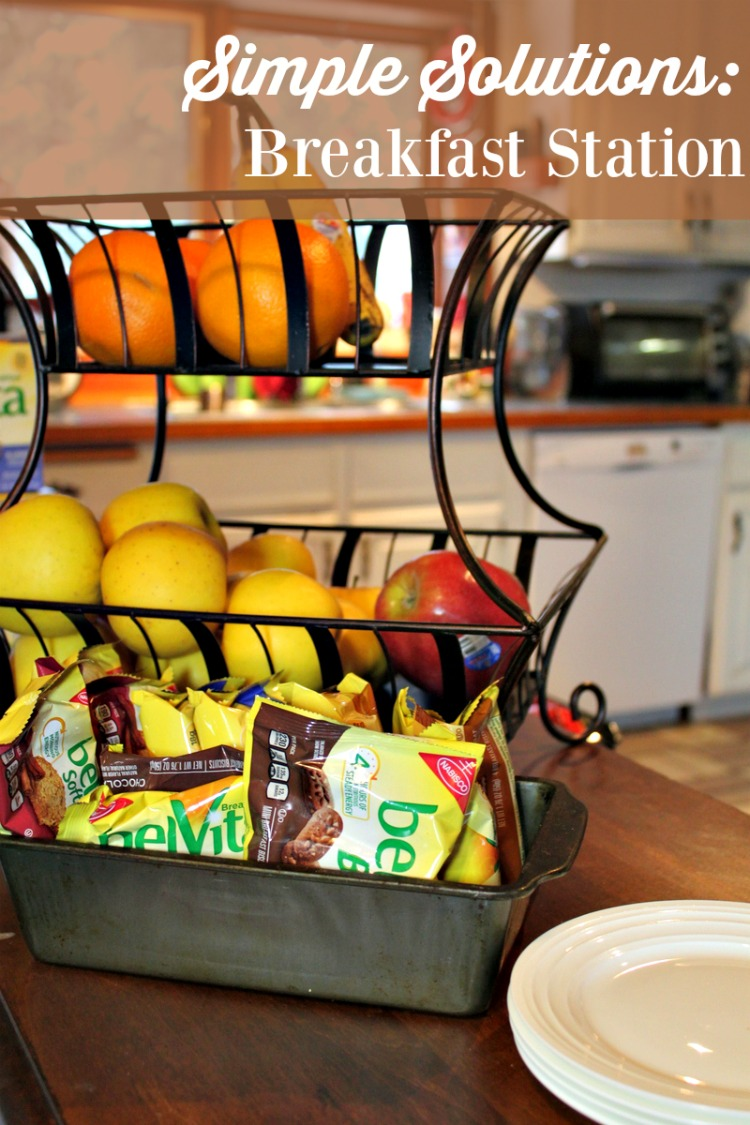 Busy families need simple solutions including things like a breakfast station for nutritious options to start the day.