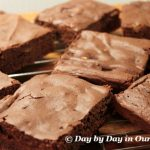 Flourless Brownies with Craisins and Pistachios