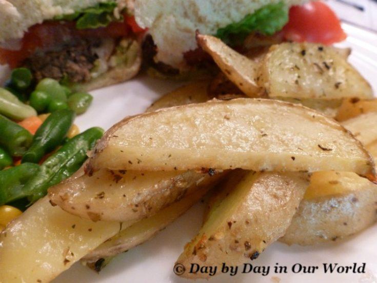 Garlic Herb Parmesan Oven Fries