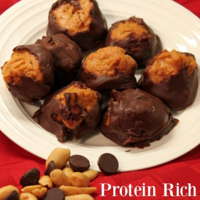 New Year New You: Protein Rich Peanut Butter Chocolate Candies