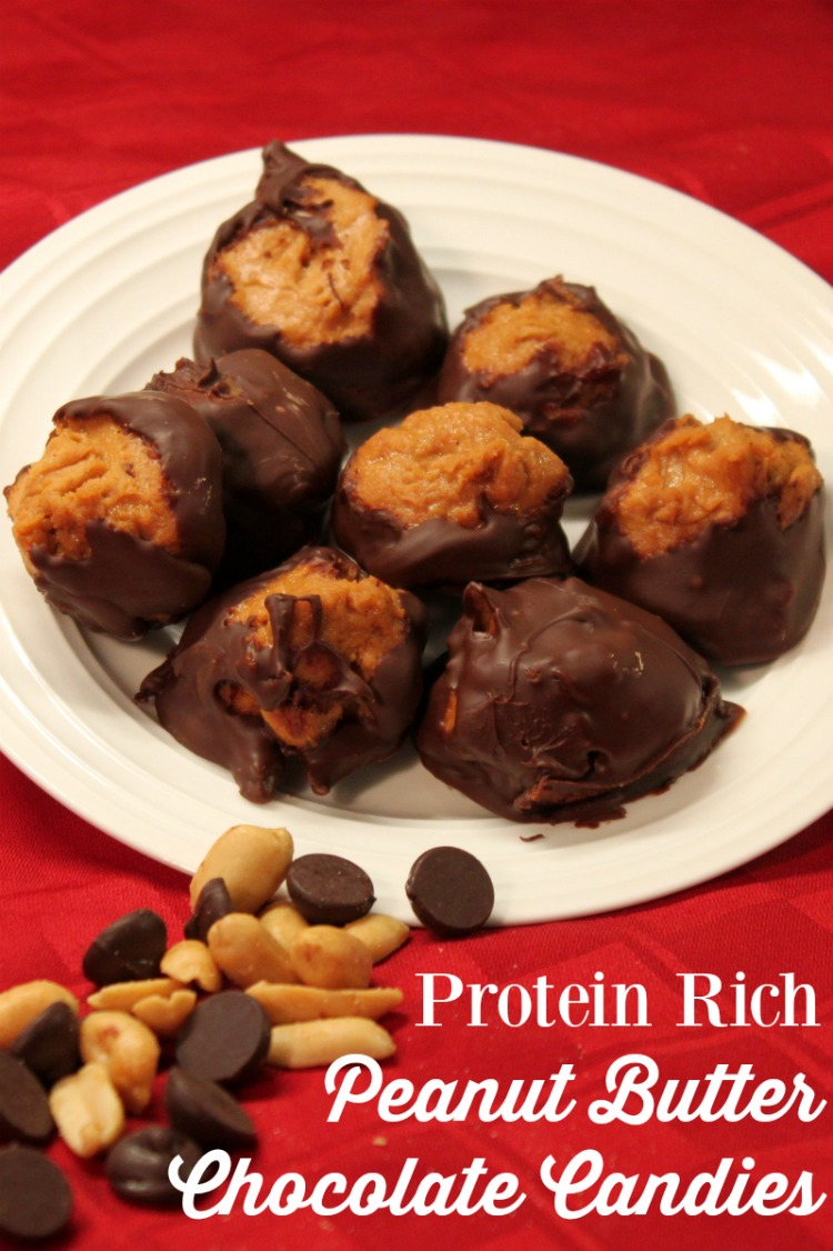 Make Protein Rich Peanut Butter Chocolate Candies using Jif Peanut Powder for a nutritious option in the afternoon or evening.