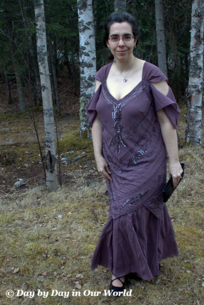 Mermaid Dress in Lavender for Downton Abbey Fundraiser