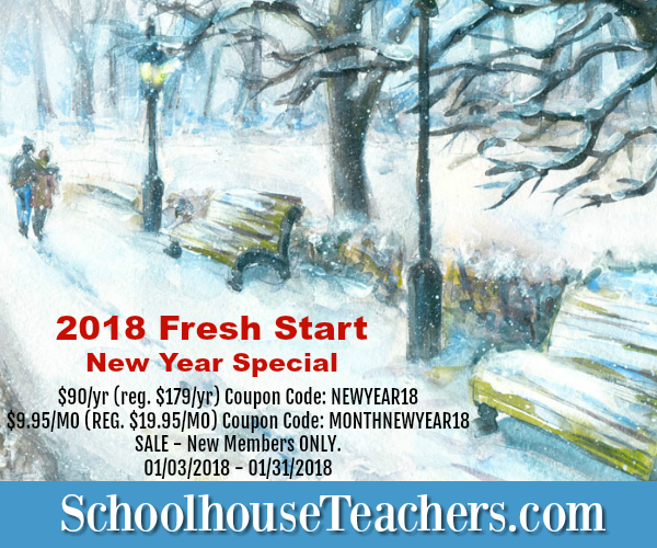SchoolhouseTeachers Fresh Start 2018 Discount