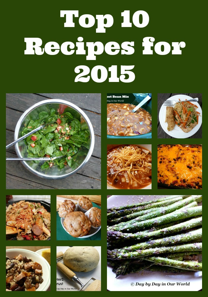 Top 10 Recipes for 2015 based on pageviews. Four of them were published prior to 2015.