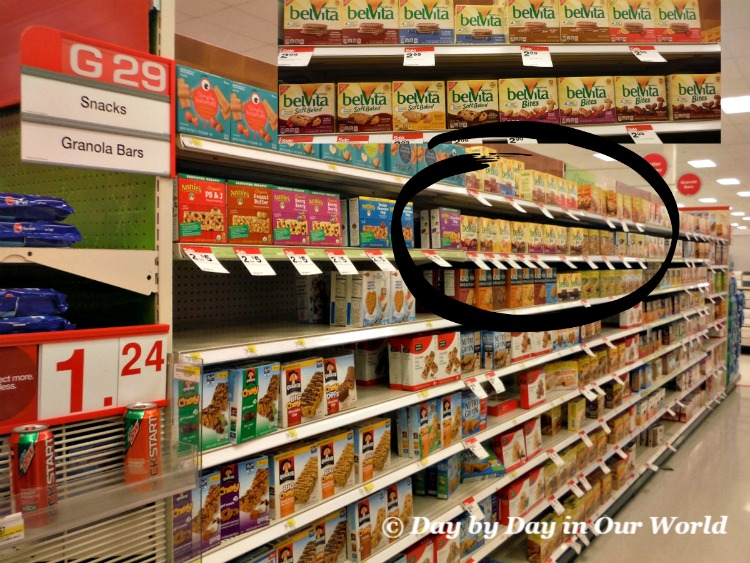 You can find belVita Breakfast Biscuits on the snacks and granola bars aisle of Target.