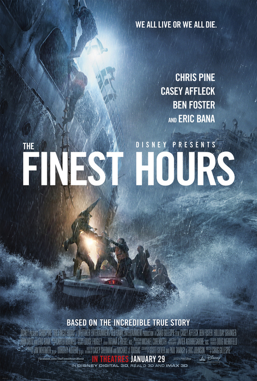 The Finest Hours is a movie which brings to light the dangerous work done by the men and women of the U.S. Coast Guard when doing search and rescue missions.