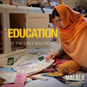 Education is the only solution He Named Me Malala