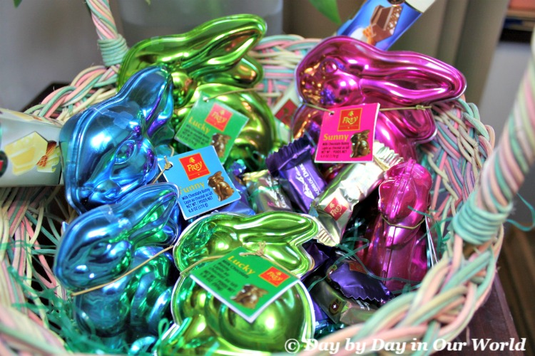 Frey Bunnies and Mini Chocobloc pieces can quickly fill up your Easter basket.