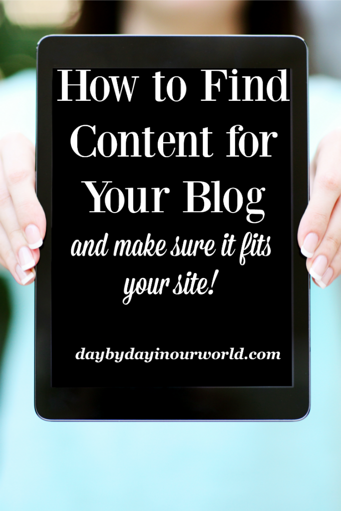 If you are blogging or considering it, here are ways to find content and make sure that it fits your site.