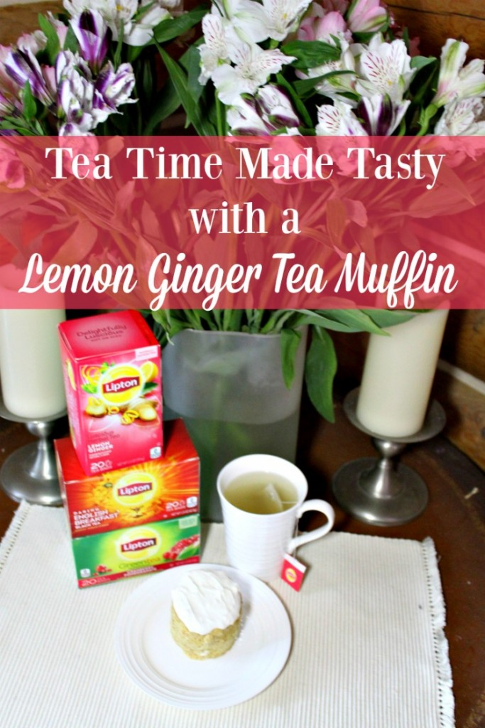 Looking for a way to make tea time tasty? Consider a Lemon Ginger Tea Muffin.