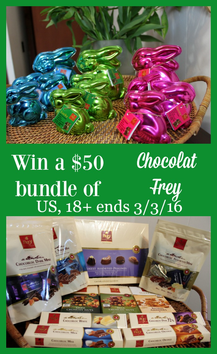 Love Chocolate? If you live in the US and are 18 or older then you can enter this giveaway to win a 50 bundle from Chocolat Frey!