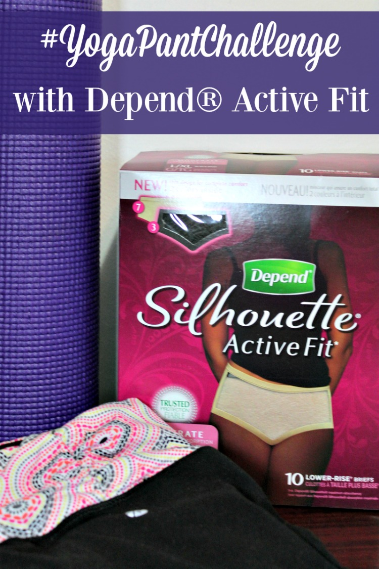 Will you take the #YogaPantChallenge with Depend Active Fit and see if you can tell a difference?
